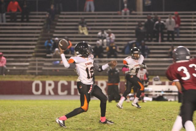 Senior quarterback Ontario Porchia has been putting up huge passing numbers for Muskegon Heights Academy
