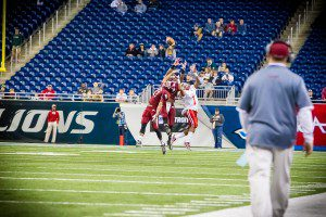 Big Reds defended the passing attack of OLSM all night Photo/Tim Reilly