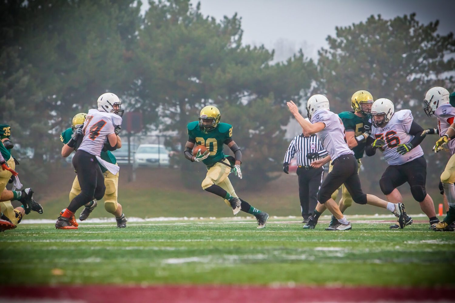 MCC loses its quarterback early, but still rolls past Harbor Beach 42-6 to advance to the Division 8 state finals