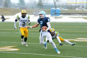Backup QB Tyler Trovinger (7) in action last weekend