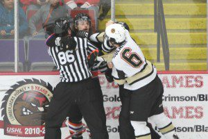 Christian Wolanin gets chippy during action. Photo/Joe Lane