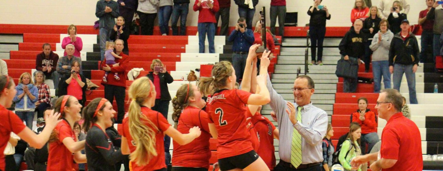 Whitehall volleyball team overcomes injury to key player and sweeps Spring Lake in the Class B district finals