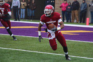 Alezay Coleman on the interception for Muskegon. Photo/Jason Goorman