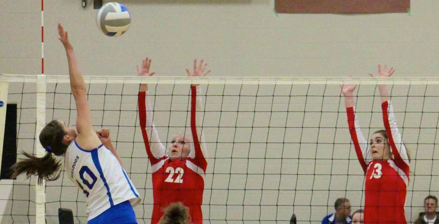 Ravenna rallies to down Kent City in Class C district volleyball; WMC holds off Black River in second match