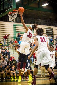 Big Reds #32 Joeviair Kennedy with the easy layup photo/Tim Reilly