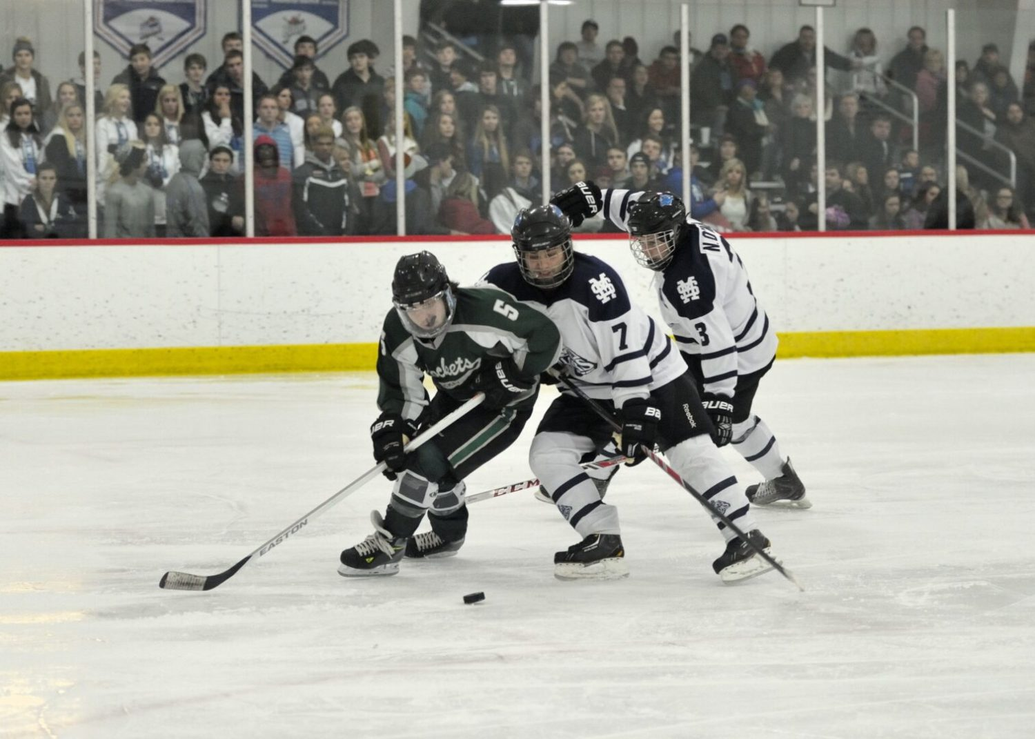 Two power play goals give Mona Shores a 3-2 victory over rival Reeths-Puffer in high school hockey