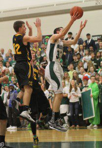 Jacob Ray gets to the basket for WMC on Homecoming night. Photo/Scott Stone