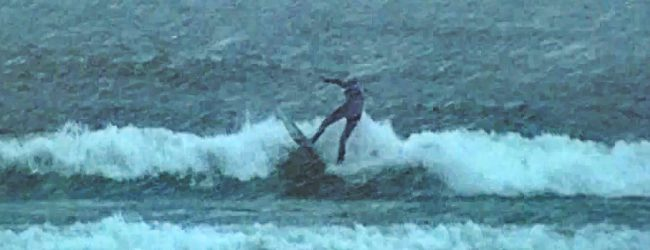 [VIDEO] Ghost surfers seen during Sunday's snow storm
