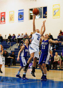 Emily Jacoutot goes up for the Oakridge shot. Photo/Sherry Wahr