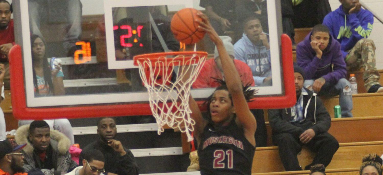 Muskegon pounds Mona Shores in O-K Black boys basketball action