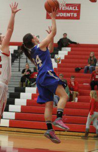 Montague's Kenadee Shugars goes in for the layup. Photo/Scott Stone