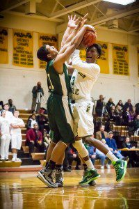 Jared Varnado ties up MCC's Christian Martinez Photo/Tim Reilly