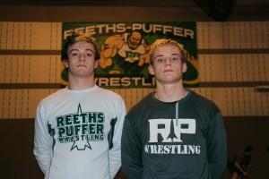 R-P senior wrestlers Connor McKinnon, left, and Paul Douglas.