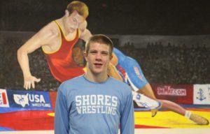 Mona Shores wrestler Sam Karel.