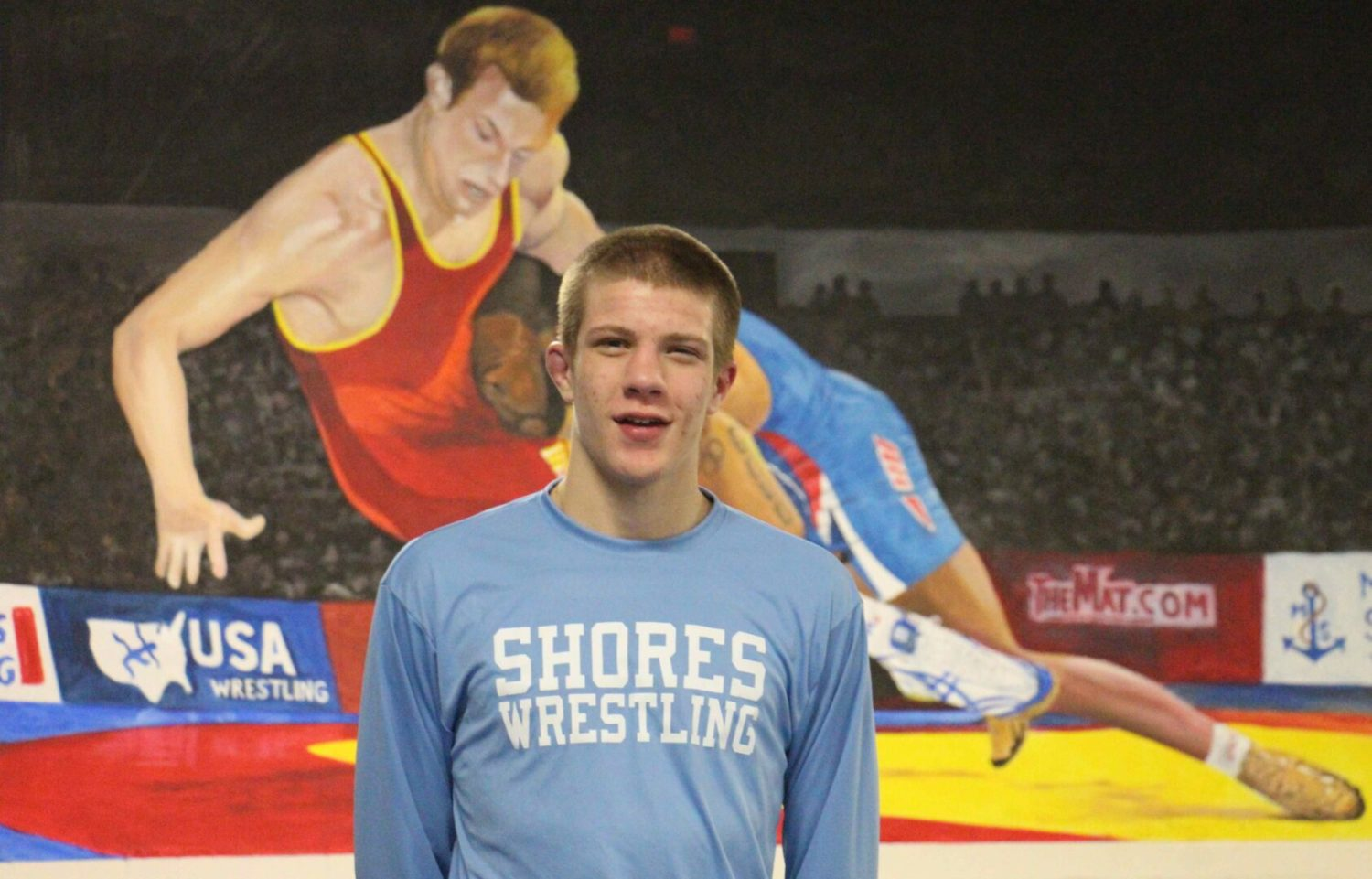 After getting a taste of success last year, Mona Shores' Sam Karel is ready to make his push for state wrestling honors