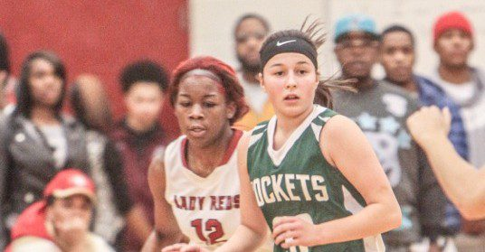 Muskegon girls play spoiler in the O-K Black, upsetting first place Reeths-Puffer 58-54
