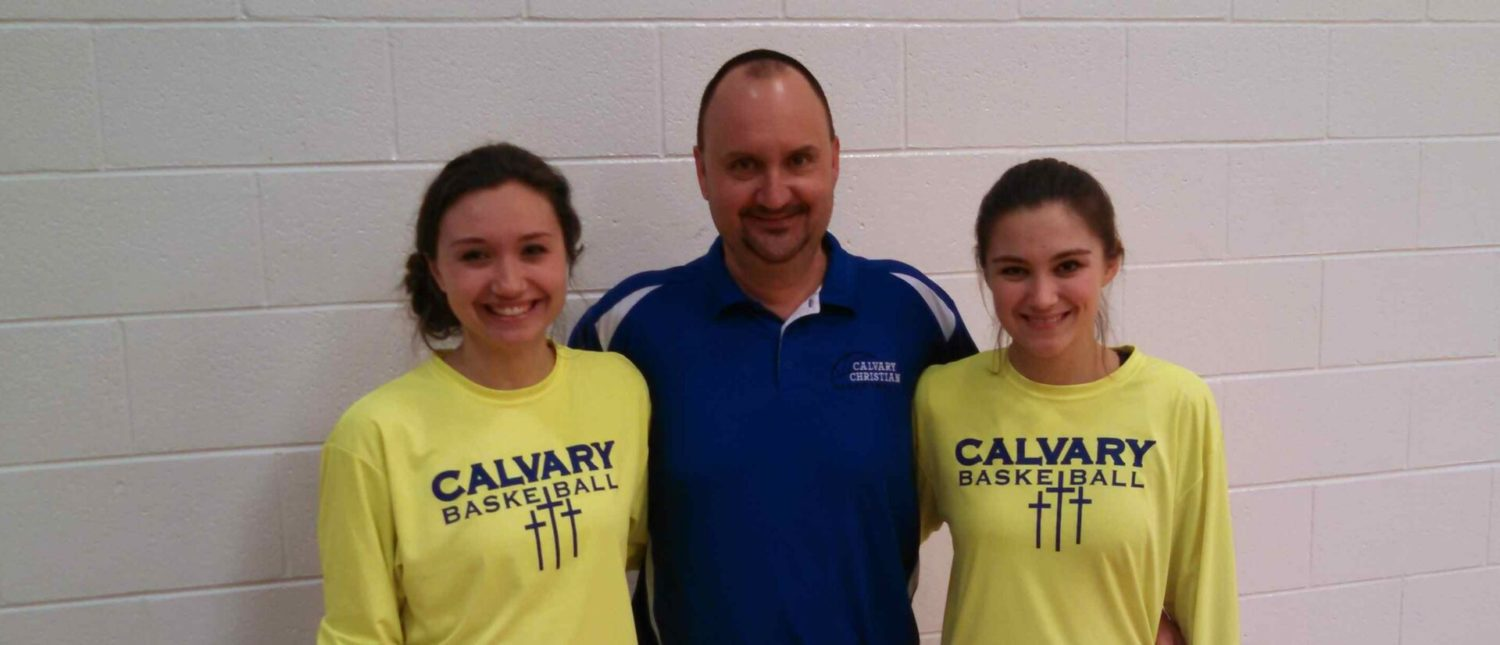 Coach Brad Richards and his high-scoring daughters are pushing for a state title at Fruitport Calvary Christian