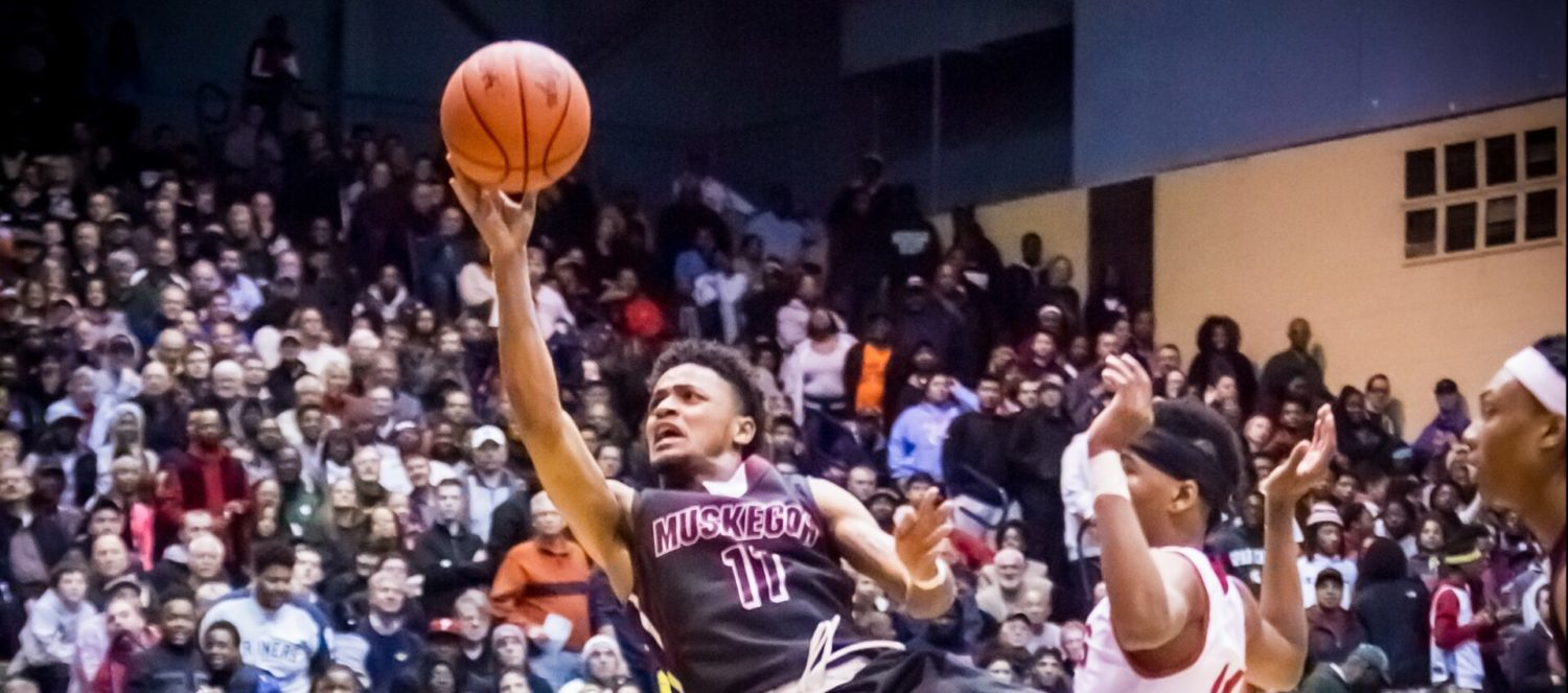 Muskegon's hopes for a second straight state title crumble with a 75-52 quarterfinal loss to Lansing Everett