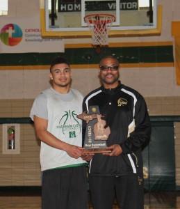 MCC Coach Lamar Jordan, right, and his son Lamar Jordan III. Photo/Jason Goorman