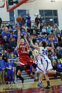 Spring Lake's Emily VanWingen goes up for two points. Photo/Carol Cooper