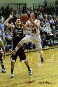 Spring Lake's Kyle Zietlow glides through the lane for two points. Photo/Carol Cooper