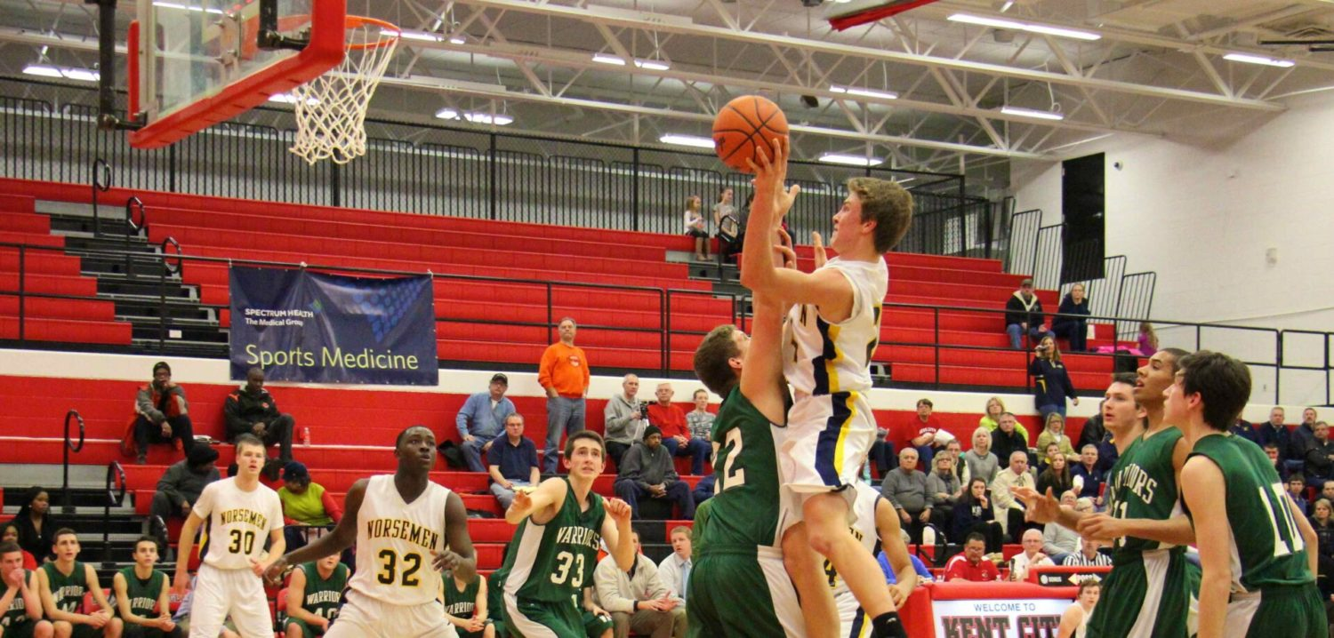 Sophomore Riley Fairfield's 12 fourth quarter points propel North Muskegon past WMC 54-52 in Class C semifinals [VIDEO]