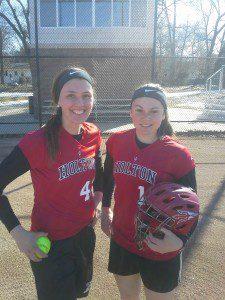 Holton's Rachel Younts, left, and Ashley Friend