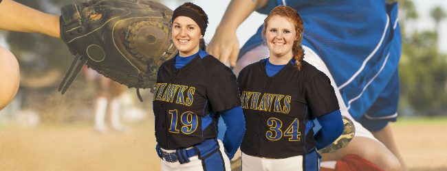 Softball sluggers Megan Jean, Katie Hendrickson are happy they decided to play at Muskegon Community College