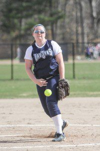 Fruitport pitcher Auroa Wilks delivers the pitch. Photo/Joe Lane