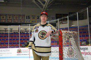 Muskegon Lumberjacks goalie Eric Schierhorn.