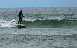 Chris Matteson catches a wave. Photo/Jason Goorman