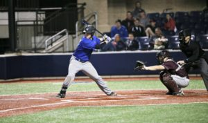 Potts has made a name for himself at GVSU with his bat. Photo/Kevin Sielaff