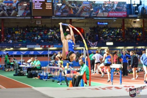 Spring Lake pole vaulter Bella LeRoux sets a new record at an indoor track meet in New York