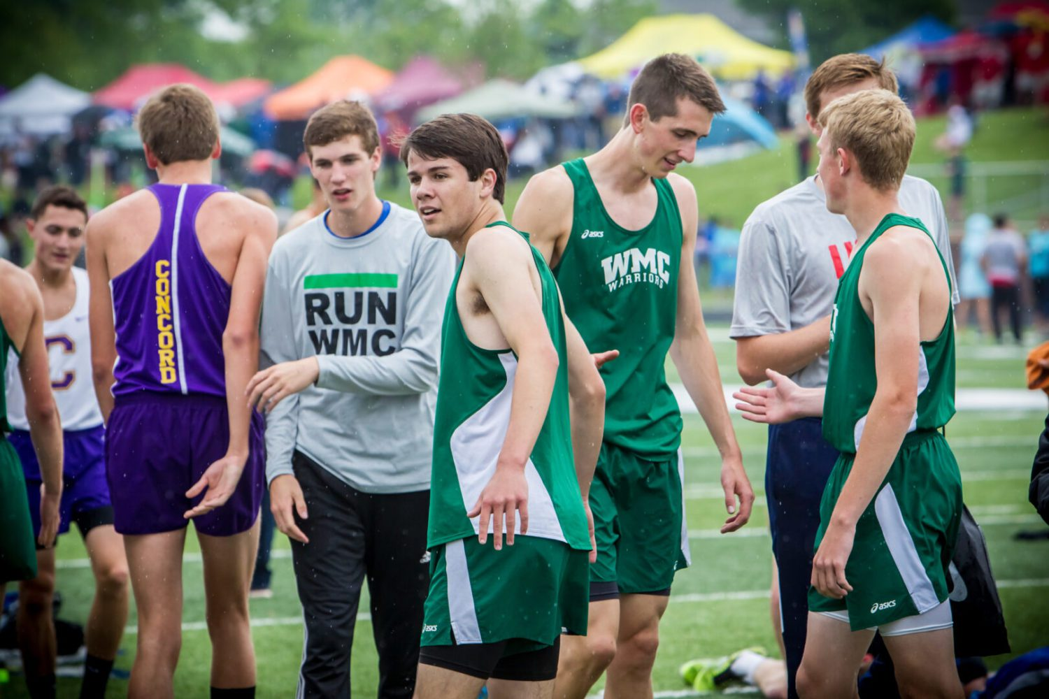 Western Michigan Christian boys track team comes within a point and a stride of winning a state title