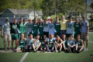 Western Michigan Christian boys track team.