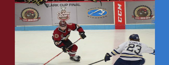 Lumberjacks blow a one-goal lead, fall 3-2 in Game 1 of the Clark Cup finals