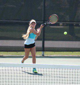 Mona Shores No. 1 singles champ Sophia Gossett. Photo/Jason Goorman