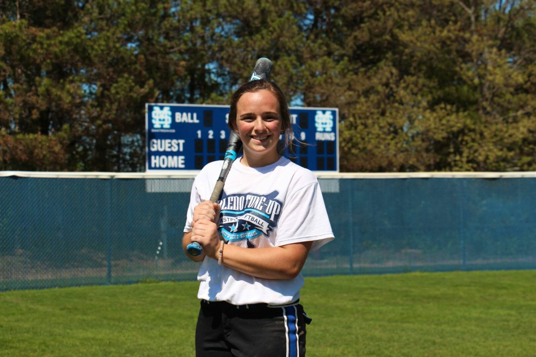 Mona Shores softball captain MacKenzie Willeke speaks softly, does a lot of damage with her bat