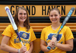 Kaylee Hartwell and Mikayla Gronbeck, two of the Bucs' top hitters. Photo/Jason Goorman