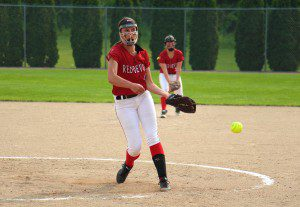 Rachel Younts makes the pitch for Holton. Photo/Jason Goorman