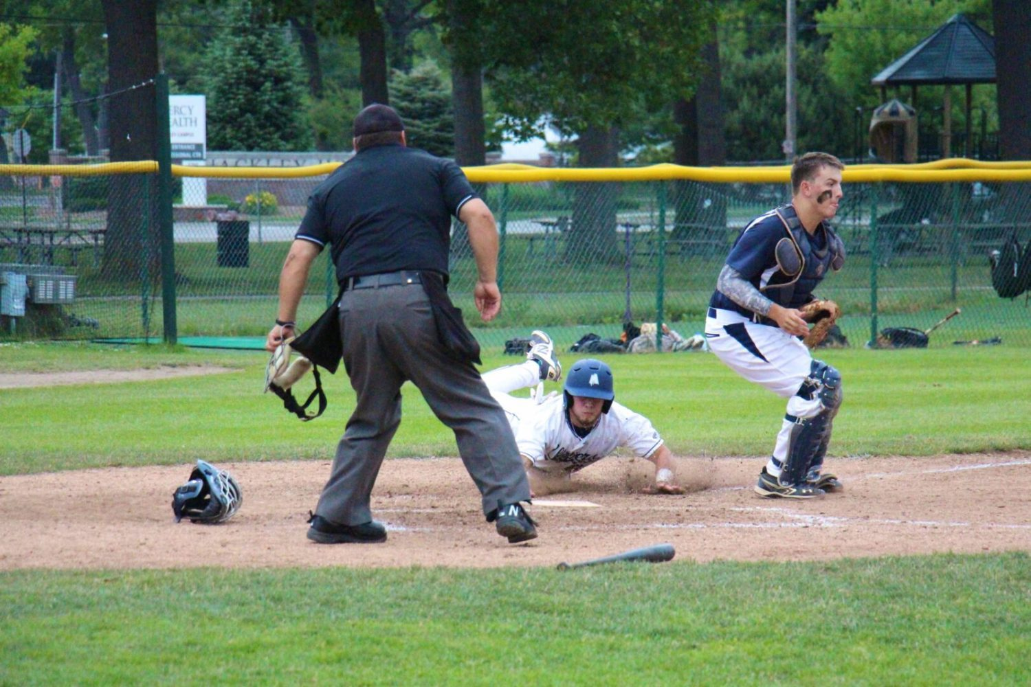 Clippers rally from a six-run deficit to defeat Bloomfield 12-6 in a wild game at Marsh Field