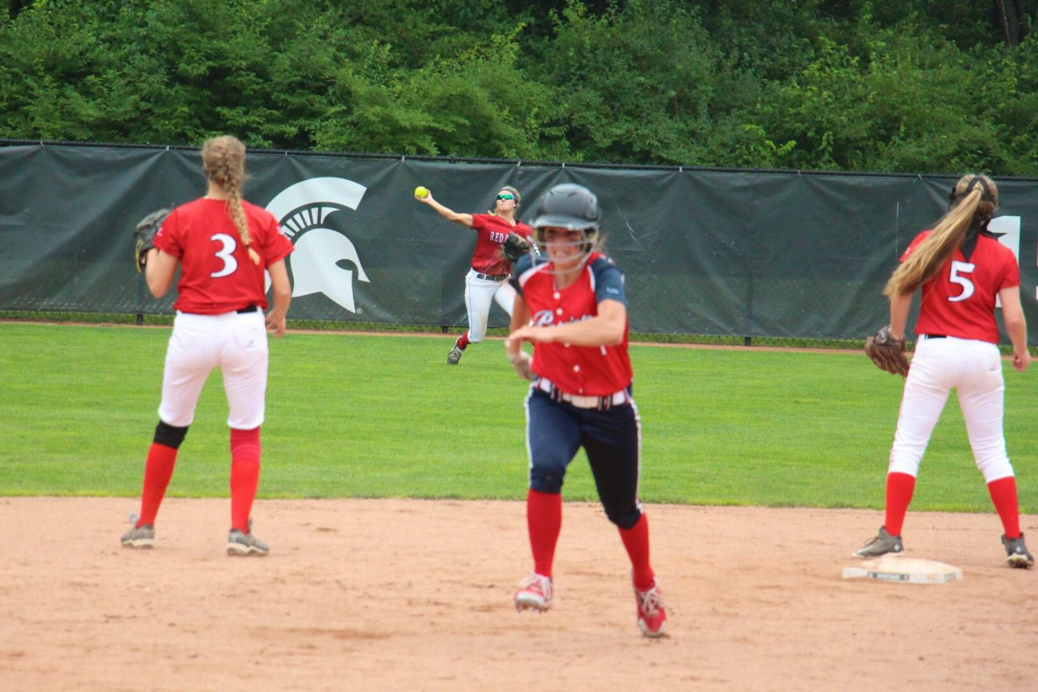 The Holton softball team's 37-game winning streak ends with a 4-1 loss in the Division 4 state semifinals