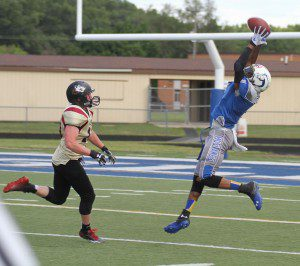Jamarcus Martin makes the catch for Muskegon. Scott Stone