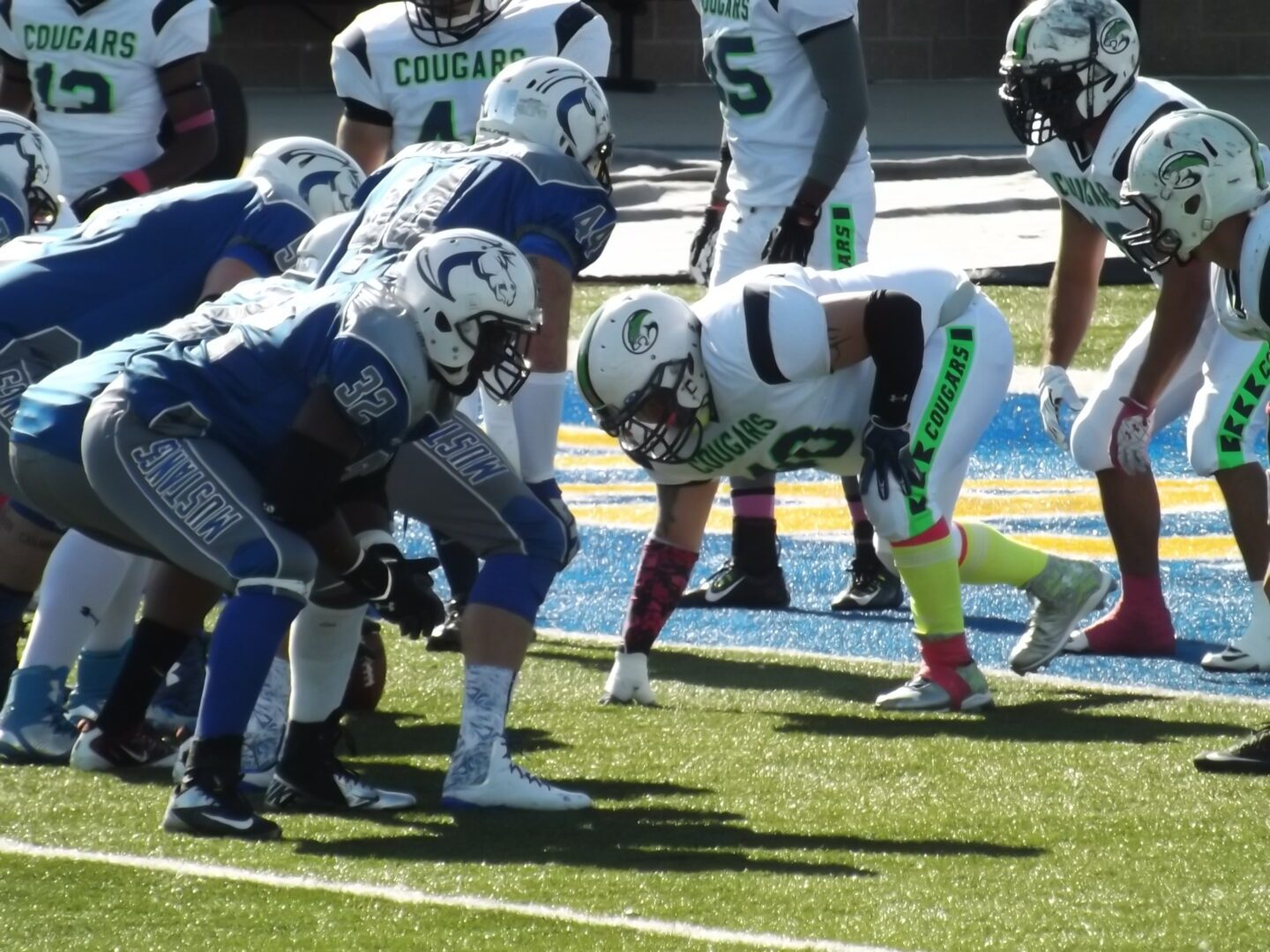 Despite a sluggish offense, the Muskegon Mustangs get past the Lakeshore Cougars 29-13