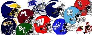 High school helmet feature art