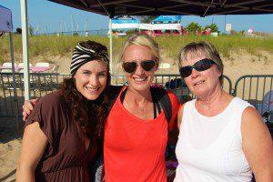 Attendees Kate Schalk, Crystal VanDusen and Ola Tornga. Photo/Jason Goorman
