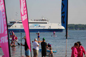 The Lake Express makes its way across Muskegon Lake after another successful trip from Milwaukee. Photo/Jason Goorman
