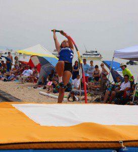 Bella LeRoux reaches the ramp. Photo/Jason Goorman