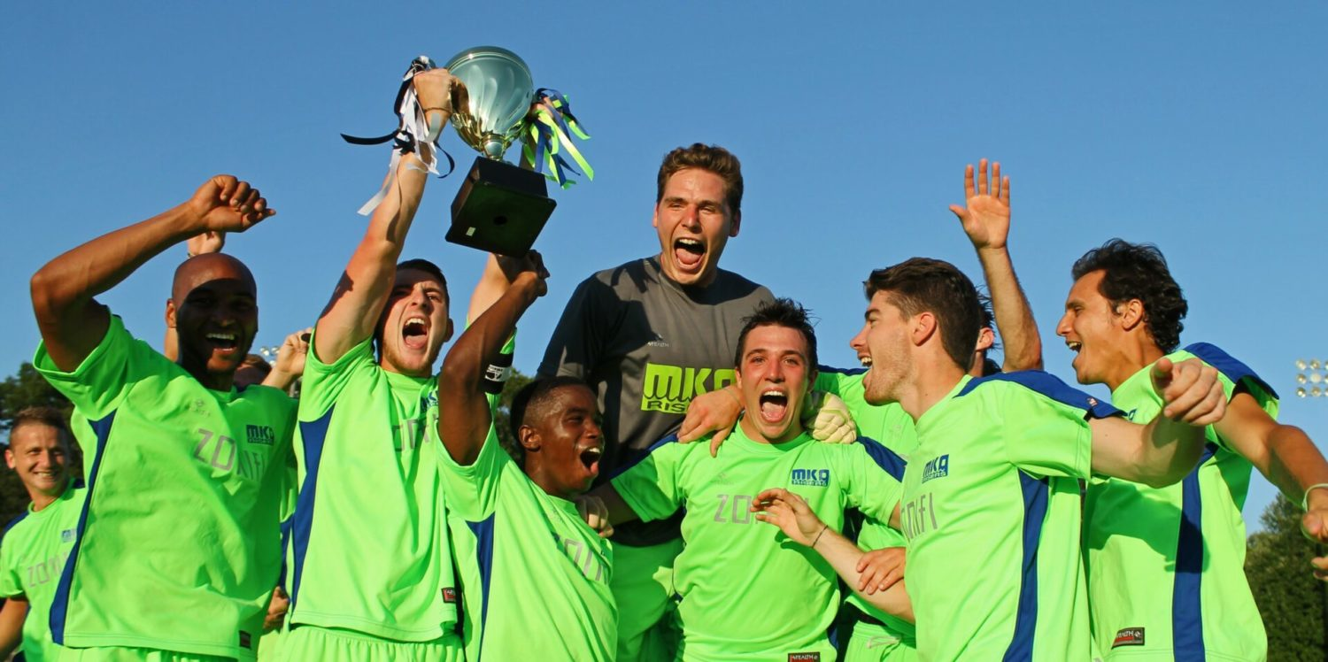 Muskegon Risers win the first round of their annual rivalry with the Milwaukee Brewers FC, 3-1