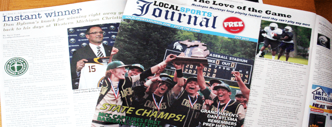 Local Sports Journal the magazine in area outlets today!